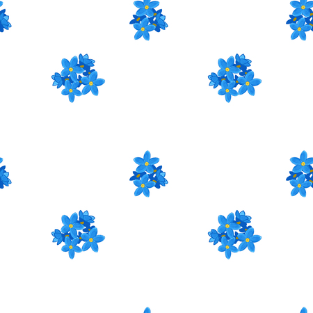 forget me not: Stylish floral seamless pattern with forget-me-not. Small forget me not flowers.