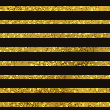 retro design: Abstract seamless striped gold and black background. Texture of gold foil. Digital Paper