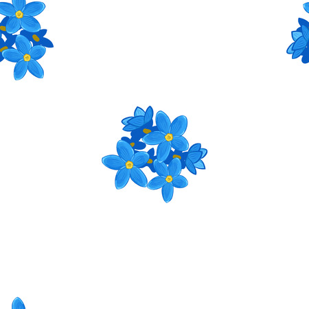 forget: Stylish floral seamless pattern with forget-me-not. Blue forget me not flowers.