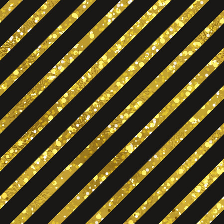 digital paper: Abstract diagonal seamless striped gold and black background. Texture of gold foil. Digital Paper
