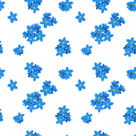 Stylish floral seamless pattern with forget-me-not. Forget me not flowers. Digital paper Banque d'images
