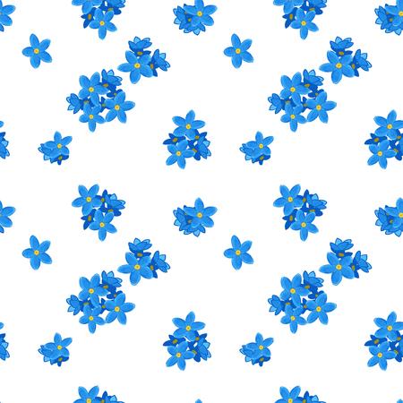 Stijlvolle bloemen naadloos patroon met vergeet-mij-niet. Vergeet me niet bloemen. digitaal papier