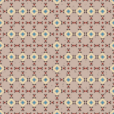 vectoe: Geometric ethnic seamless pattern. Aztec background made of abstract geometric elements digital paper