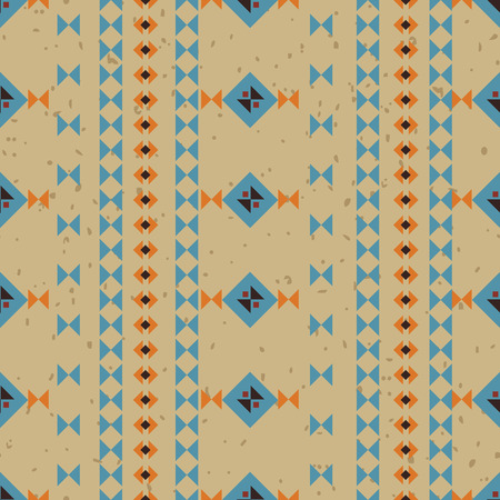 vectoe: Geometric ethnic seamless pattern. Aztec background made of abstract geometric elements. Digital or wrapping paper made of small ethnic geometric shapes