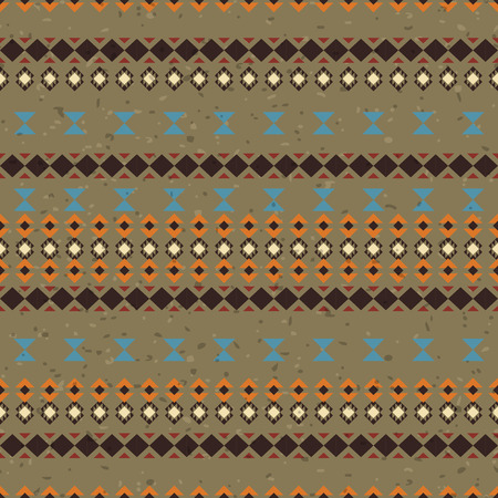 Geometric ethnic seamless pattern. Aztec striped background made of abstract geometric elements. Abstract lines Illustration