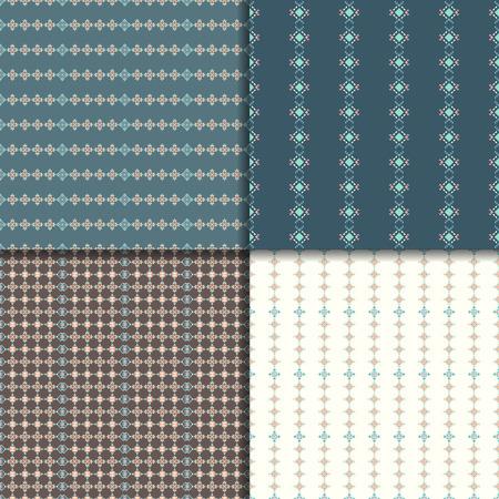 Geometric seamless patterns. Abstract pattern set. Ethnic background, aztec pattern Illustration