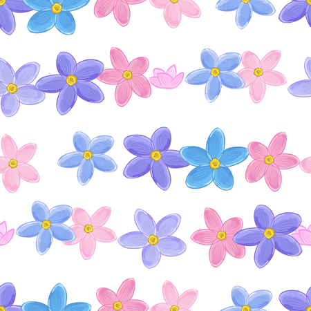 forget me not: Stylish floral seamless pattern with forget-me-not. Forget me not flowers. Digital or wrapping paper