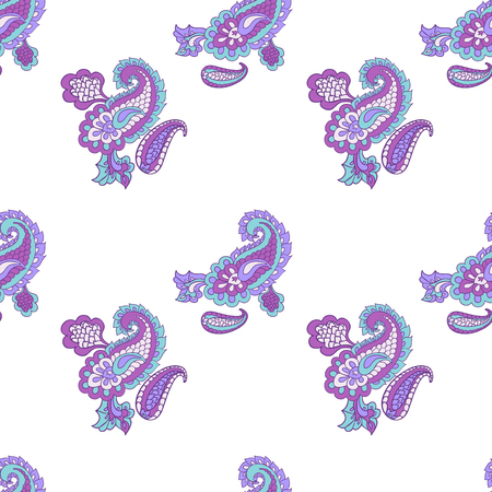 persia: Seamless vector paisley pattern. Asian paisley background.  Wrapping paper
