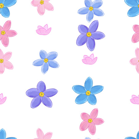 forget: Stylish floral seamless pattern with forget-me-not. Forget me not flowers. Illustration