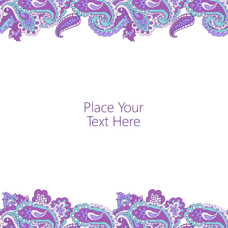 horisontal: Abstract horisontal paisley border. Good  for page decoration, invitation, greetings cards  or announcements.