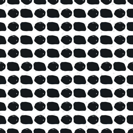whit: Geometric doodle seamless pattern. Black and whit grunge geometric shapes Illustration