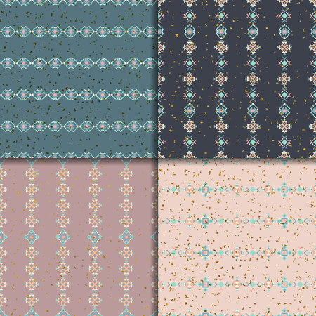 Geometric patterns. Abstract pattern set. Ethnic vector  background, aztec seamless pattern