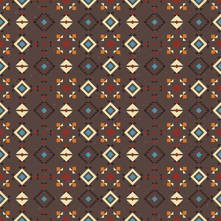 digital design: Geometric ethnic seamless pattern. Abstract brown aztec background. Digital or wrapping paper