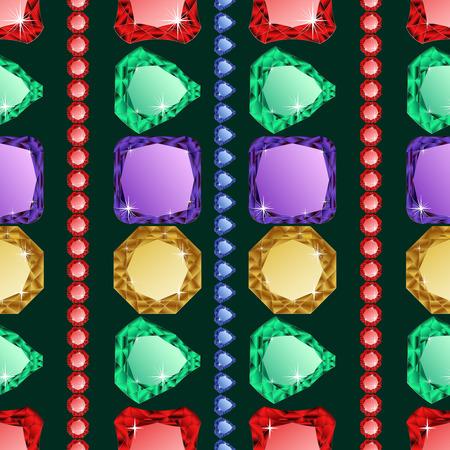 jewerly: Diamonds seamless pattern. Vector illustration jewerly. Abstract diamond vector background. Jem seamless pattern. Seamless background, brilliant jewels. Wealth illustration vector