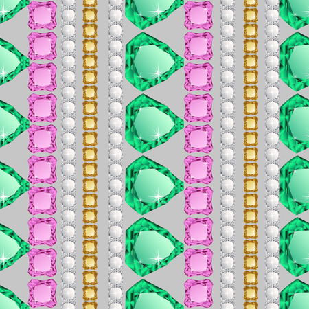 jewerly: Diamonds seamless pattern. Vector illustration jewerly. Abstract diamond vector background. Jem seamless pattern. Seamless background, brilliant jewels. Wealth concept