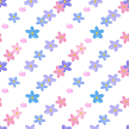 forget me not: Stylish floral seamless pattern with forget-me-not. Forget me not flowers. Digital paper Stock Photo