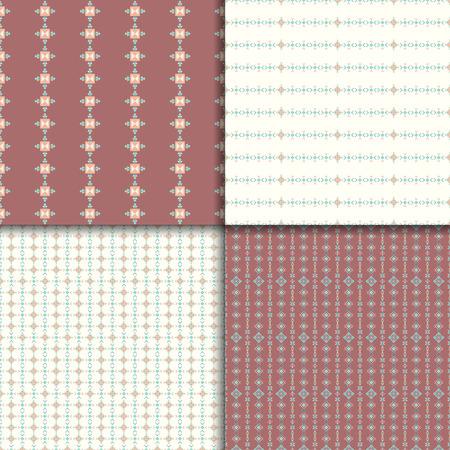 vectoe: Geometric seamless patterns. Abstract pattern set. Ethnic background, aztec pattern Illustration