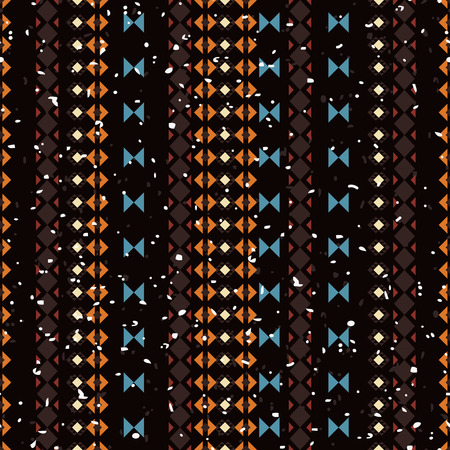 vectoe: Geometric ethnic seamless pattern. Aztec striped background made of abstract geometric elements. Abstract lines Stock Photo