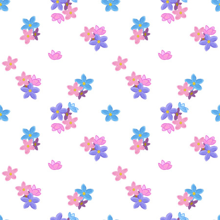 forget me not: Stylish floral seamless pattern with forget-me-not. Forget me not flowers. Good for web, print, wrapping paper Stock Photo