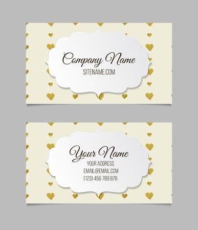 Business card template. Double-sided vector business card. Stok Fotoğraf