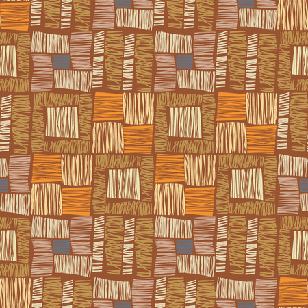 African nahtlose Muster. Zusammenfassung nahtlose Muster. Ethnische Muster. Textile Vektor, braunen Hintergrund