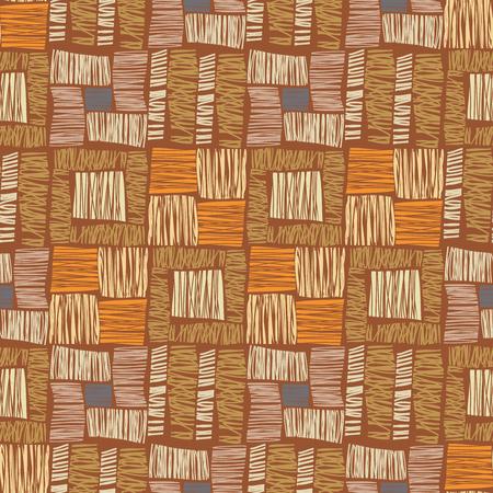 Modelo inconsútil africano. Resumen sin patrón. Modelo étnico. textil vector, fondo marrón