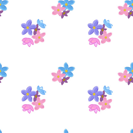 forget: Stylish floral seamless pattern with forget-me-not. Small forget me not flowers.