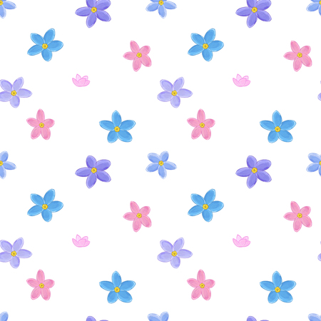forget me not: Stylish floral seamless pattern with forget-me-not. Forget me not flowers. Good for web, print, wrapping paper Illustration