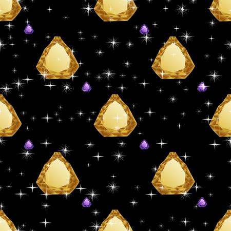 jewerly: Diamonds seamless pattern. Vector illustration jewerly. Abstract diamond vector background. Jem seamless pattern. Seamless background, brilliant jewels, yellow gold diamond