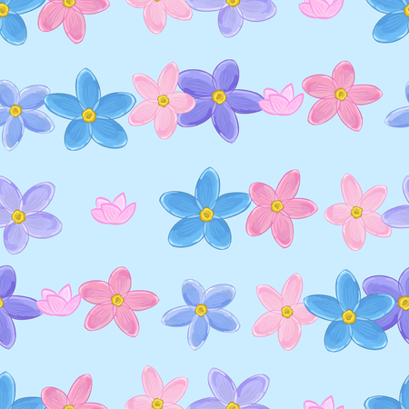 forget me not: Floral seamless pattern with forget-me-not. Forget me not flowers. Digital paper