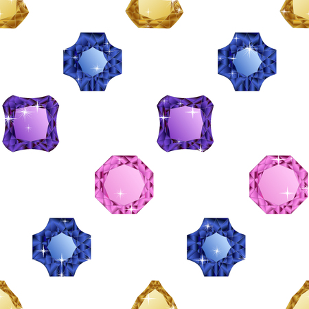 jewerly: Diamonds seamless pattern. Vector illustration jewerly. Abstract diamond vector background. Jem seamless pattern. Seamless background, brilliant jewels