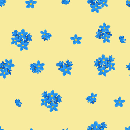 forget me not: Floral seamless pattern with forget-me-not. Forget me not flowers. Digital or wrapping paper