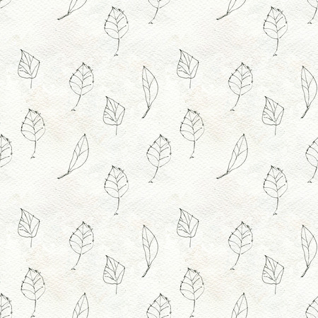nature pattern: Seamless pattern with leaves, leaves seamless background, nature pattern. Hand-drawn seamless pattern nature