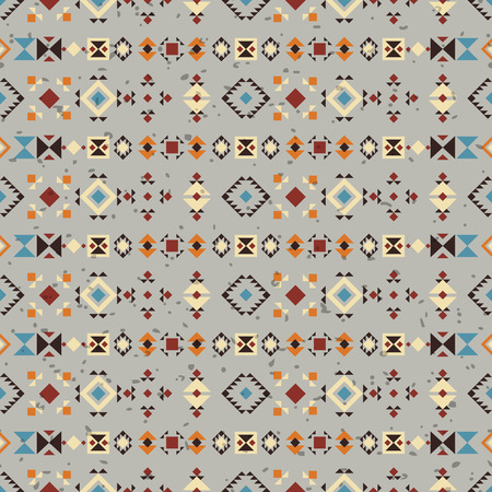 vectoe: Geometric ethnic seamless pattern. Abstract aztec geometric elements. Digital or wrapping paper