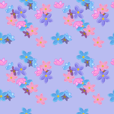 forget me not: Floral seamless pattern with forget-me-not. Forget me not flowers. Good for web, print, wrapping paper Illustration