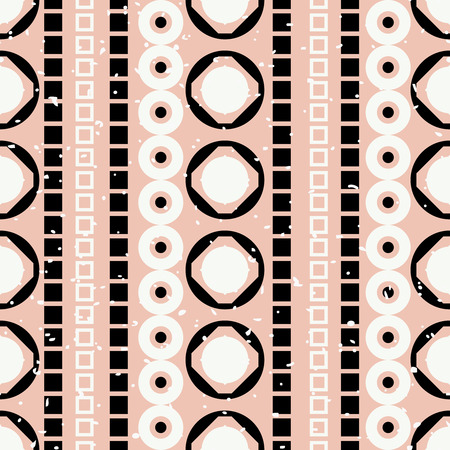 vertical lines: Geometric abstract seamless pattern. Vertical Lines made of geometric shapes Illustration