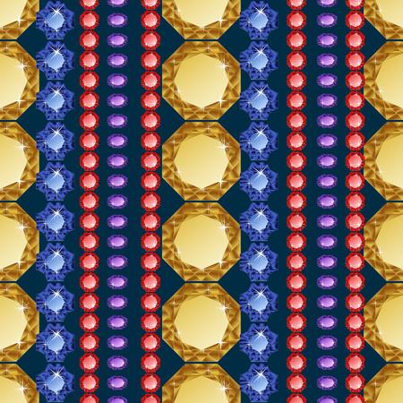 sapphire gemstone: Diamond seamless pattern. Vector illustration jewelry. Wealth concept