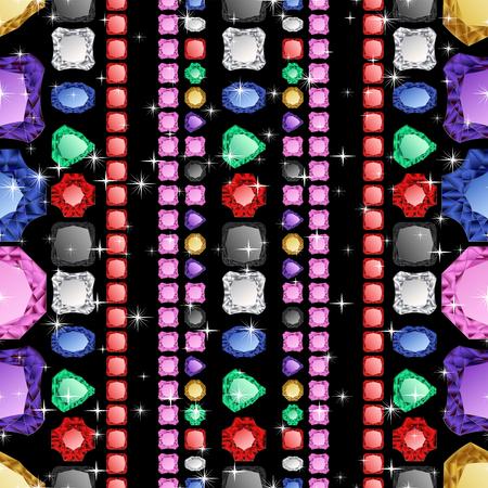 Diamond seamless pattern. Vector illustration jewelry. Wealth concept