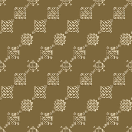 brown pattern: Celtic knot seamless brown pattern. Abstract background. Illustration