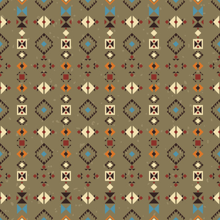 digital design: Geometric ethnic seamless pattern. Abstract aztec vector background. Tribal ornament. Stock Photo