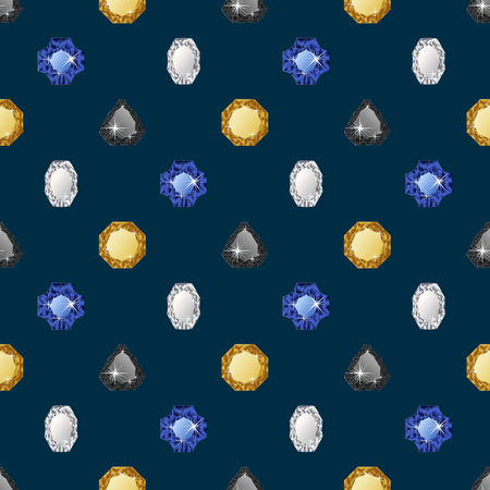 wealth concept: Diamond seamless pattern. Vector illustration jewelry. Wealth concept