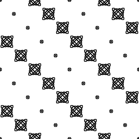 black and white celtic: Celtic cross seamless black and white pattern. Ethnic abstract background.