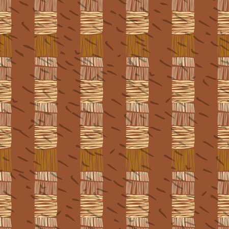 digital design: Brown vector striped grunge seamless pattern. Abstract african tribal background. Illustration