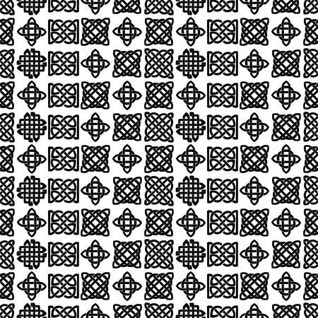 Nudo Celta Patrón En Blanco Y Negro Sin Fisuras. Ilustraciones ...