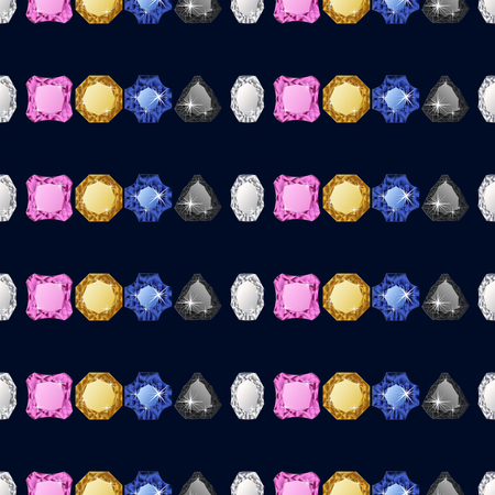 Diamond seamless pattern. Vector illustration jewelry. Wealth concept