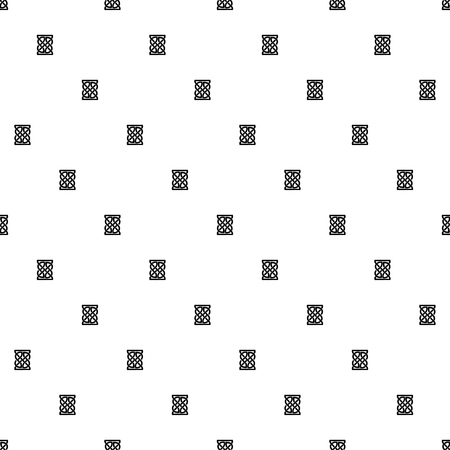 Celtic knot seamless black and white pattern. Ethnic abstract background. Illustration