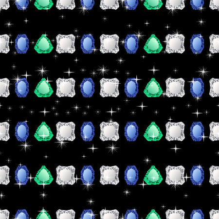 jewerly: Diamond seamless pattern. Vector illustration jewelry. Wealth concept