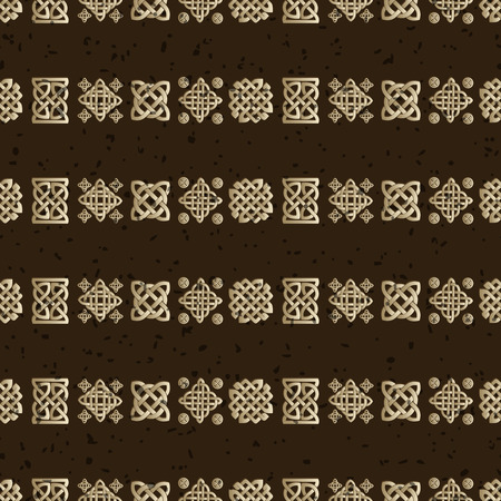 repetition row: Celtic knot seamless pattern