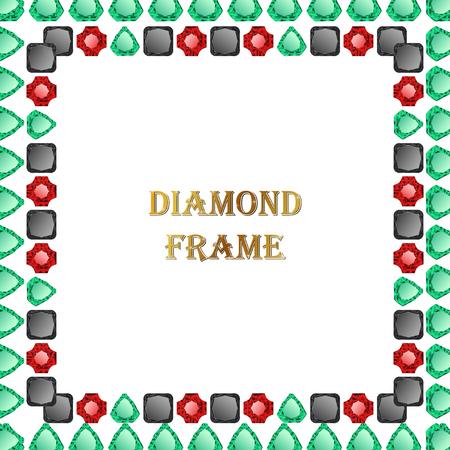 Diamonds square frame
