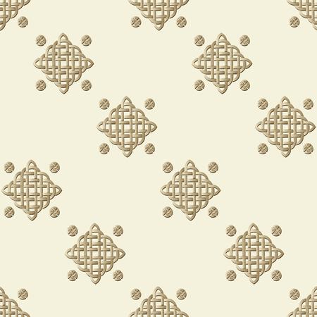 celtic background: Celtic knot seamless pattern